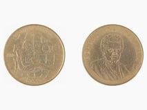 200 Lire italiane di moneta Fotografia Stock Libera da Diritti