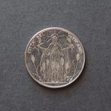 50 Lire Münze von Vatikan Stockfoto