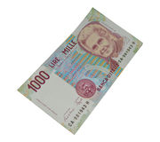1000 lire old italian banknote currency Stock Images