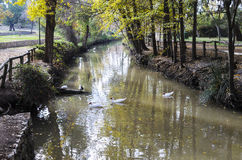 Liria, park van San Vicente Stock Foto's