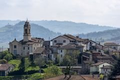 Lirio, χωριό στο Oltrepo Pavese, Ιταλία στοκ εικόνες