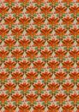 Lis et bourgeons oranges sur un fond sans couture beige Photo libre de droits