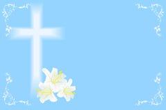 Lis et croix de Pâques Photos stock