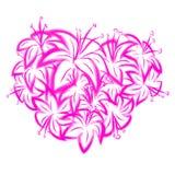 Lis rose sous forme de coeur Photo libre de droits