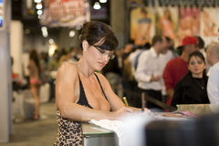Lisa Ann à la convention d'AVN Images stock