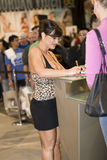 Lisa Ann signing at AVN Convention Royalty Free Stock Photos