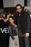 Lisa Bonet et Jason Momoa Images libres de droits