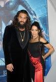 Lisa Bonet und Jason Momoa lizenzfreie stockfotos