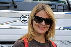 Lisa Kelly Greets Fans in Finnland Lizenzfreies Stockbild