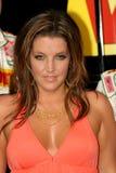 Lisa Marie Presley nimmt an dem NASCAR-Rennen in Daytona teil lizenzfreies stockbild