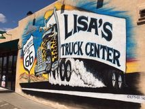 Lisa's Truck Center. Route 66, truck stop, store, highway Stock Photo