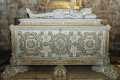 Lisabon PORTUGALIYA- 9 ΣΕΠΤΕΜΒΡΊΟΥ: τάφος πετρών του μέγιστου λιμένα Στοκ Εικόνες
