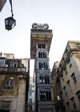 Lisboa śródmieście; Santa Justa winda Obraz Royalty Free