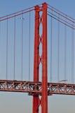 Lisboa, 2a da ponte de abril Fotos de Stock Royalty Free