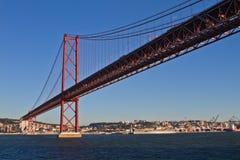 Lisboa, 2a da ponte de abril Imagem de Stock