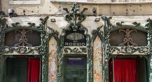 Lisboa Animatografo hace Rossio Fotos de archivo libres de regalías