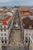 Lisboa, arco da Rua Augusta Stock Images