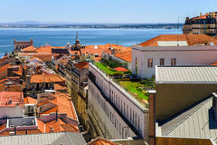 Lisboa bird-fly view Royalty Free Stock Photo