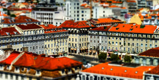 Lisboa bird-fly view Stock Images