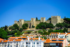 Lisboa castle bird-fly view Stock Image