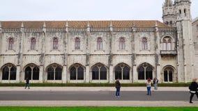 LISBOA, circa 2018: Monasterio de Jeronimos o monasterio de Hieronymites Lisboa es capital westernmost continental del ` s de Eur almacen de video
