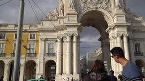 LISBOA, circa 2017: Praca hace Comercio Lisboa es la ciudad capital y más grande de Portugal Lisboa es Europa continental metrajes