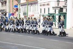 LISBOA - 16 DE ABRIL: O protetor em mudança Ceremony Imagens de Stock Royalty Free