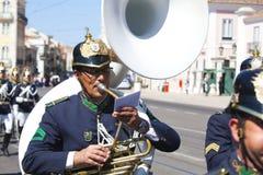 LISBOA - 16 DE ABRIL: O protetor em mudança Ceremony Fotografia de Stock