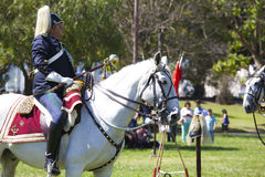 LISBOA - 16 DE ABRIL: O protetor em mudança Ceremony Fotografia de Stock Royalty Free