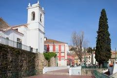 Lisboa de Miradouro das Portas hace el solenoide Foto de archivo