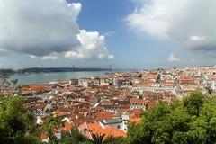 Lisboa e o rio de Tejo Foto de Stock Royalty Free