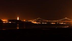 Lisboa em a noite Fotos de Stock Royalty Free