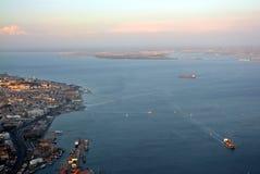 Lisboa em Portugal Vista de acima foto de stock