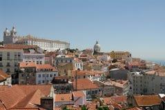 Lisboa hilltop. View over alfama, lisbon, portugal Royalty Free Stock Image