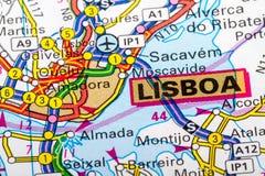 Lisboa map Stock Images