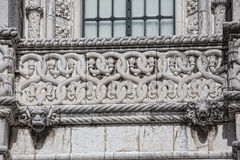 Lisboa - monastério de Jeronimos do detalhe Foto de Stock