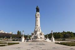 Lisboa, monumento no quadrado de Marques de Pombal imagens de stock royalty free