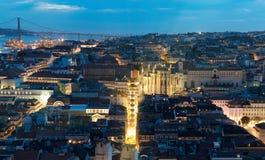 Lisboa na noite Imagens de Stock Royalty Free