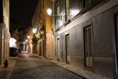 Lisboa na noite, Portugal Fotografia de Stock Royalty Free