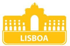 Lisboa outline royalty free illustration
