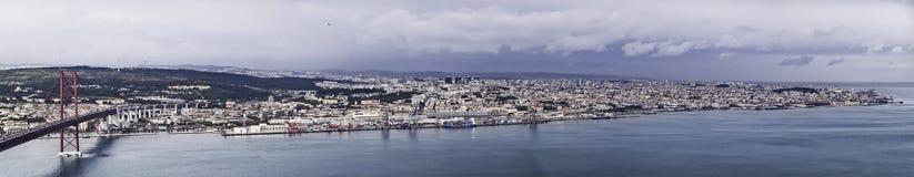 Lisboa panorámica Fotografía de archivo libre de regalías