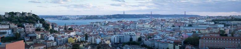 Lisboa, panorama fotografia de stock royalty free
