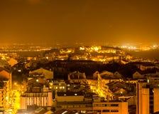 Lisboa por la noche, una visión mágica Fotografía de archivo