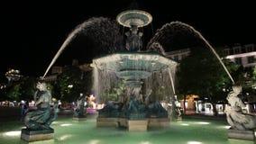 Lisboa por noche almacen de metraje de vídeo