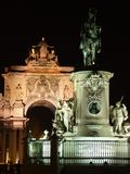 Lisboa por noche Fotos de archivo libres de regalías