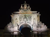Lisboa por noche Imágenes de archivo libres de regalías