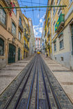 Lisboa,Portugal-April 12,2015: A traditional tram is making its Stock Photos