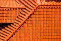 Lisboa Portugal Datails del fondo anaranjado famoso del tejado Foto de archivo
