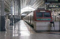 LISBOA, PORTUGAL - 2 DE ABRIL DE 2013: Ferrocarril de Rossio Foto de archivo