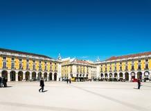 Lisboa, Portugal - 10 de março: Construções velhas tradicionais em março Fotografia de Stock Royalty Free